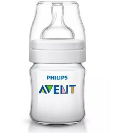 Mamadeira Philips Avent Classic+ 125 ml 0 ou +meses - branco
