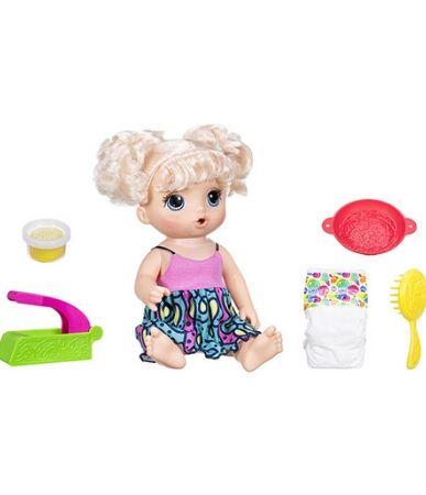 Boneca Baby Alive Hasbro adoro macarrão - loira