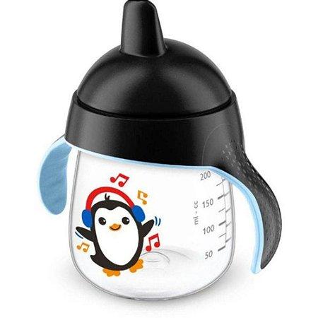 Copo Philips Avent Pinguim 260 ml - preto