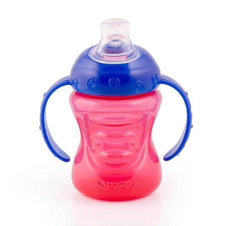 Copo Nuby com alça 240 ml - vermelho e azul