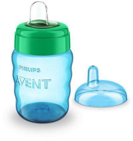 Copo Philips Avent bico silicone 260 ml - verde e azul