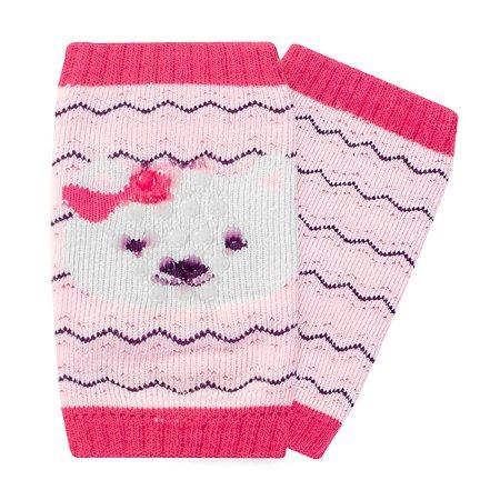 Joelheira bebê Pimpolho antiderrapante gatinha - rosa