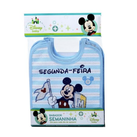 Babador Minasrey semaninha Mickey - azul
