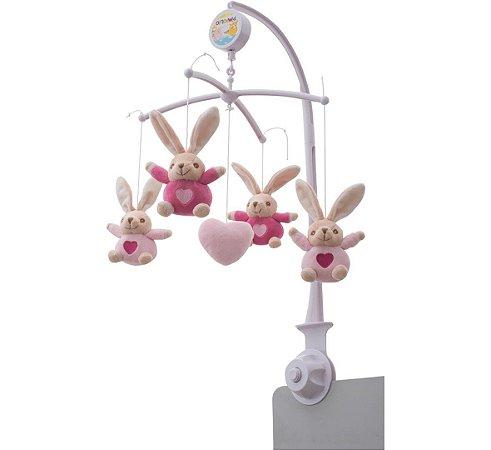 Móbile de berço Pimpolho pelúcia - coelhinho rosa