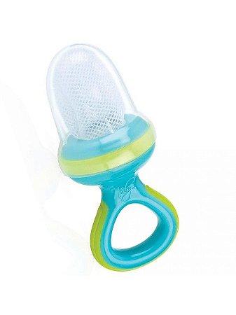 Alimentador infantil Nuby primeiras papinhas - azul e verde