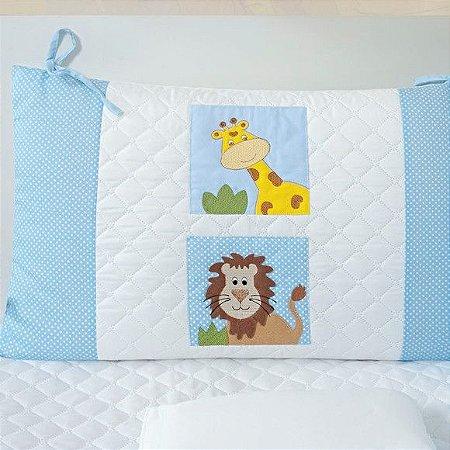 Kit de berço Tiquinho Baby zoológico - azul