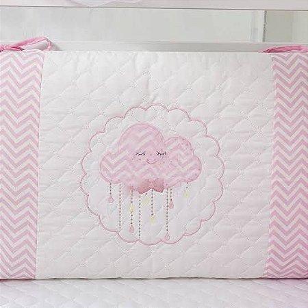 Kit de berço Tiquinho Baby nuvem - rosa