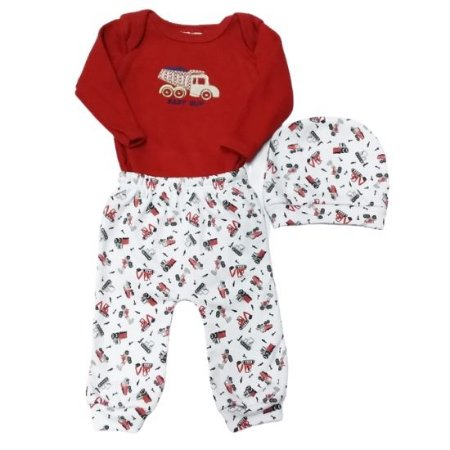 Kit presente Baby Gijo masculino 3 peças - vermelho