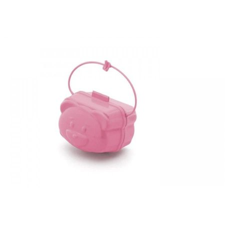 Porta Chupeta Adoleta Urso - rosa