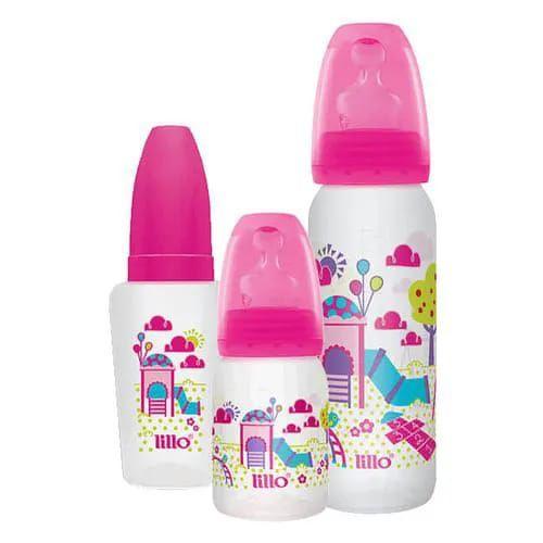 Kit 3 Mamadeiras Lillo Evolução Divertida - rosa