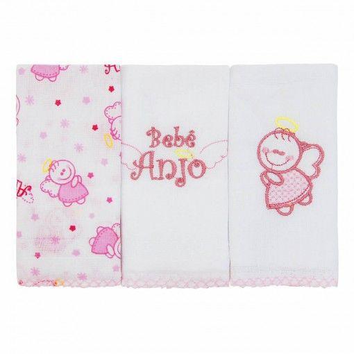 Kit Babete Minasrey Bebê Anjo - rosa