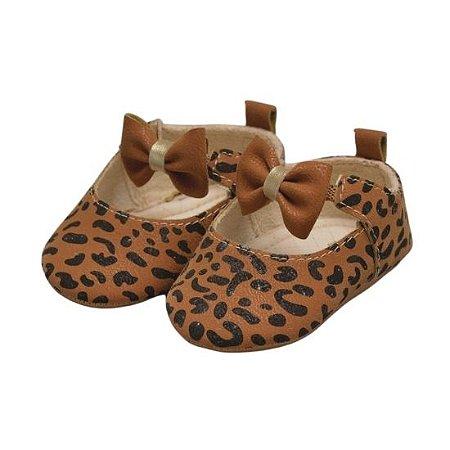 Sapato infantil Pimpolho oncinha - marrom