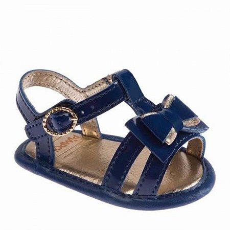 Sandália infantil Pimpolho com laço - azul marinho