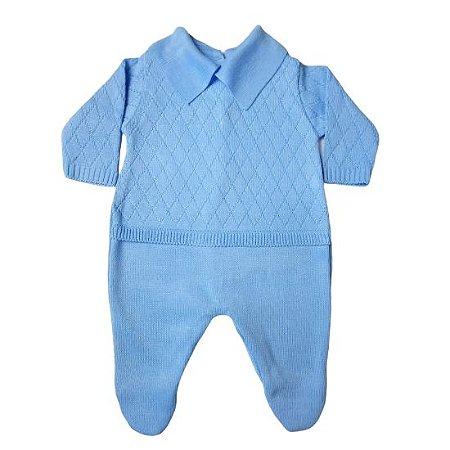 Saída de Maternidade Din Don Tricot masculina - azul