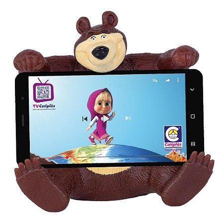 Urso da Masha Cotiplás em vinil - suporte de celular
