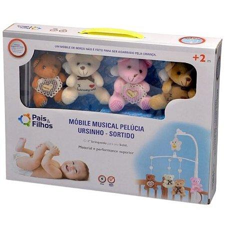 Móbile de berço Pais e Filhos pelúcia ursinho - sortido