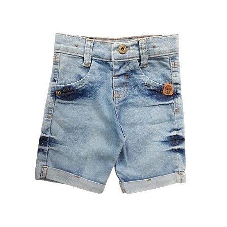 Bermuda infantil Anex tamanho 1 - jeans