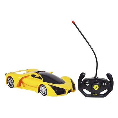 Carro Dm Toys de Controle Remoto sem fio - amarelo