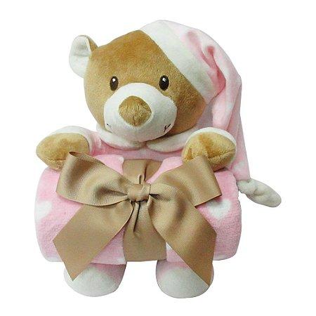 Manta Dm Toys Fofy soninho baby - rosa