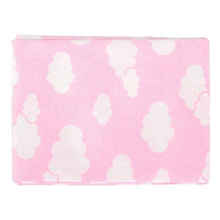 Lençol de berço Minasrey Alvinha americano com elástico - rosa