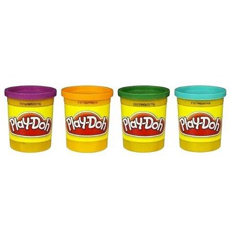 Massinha Play Doh Hasbro 4 potes - colorida