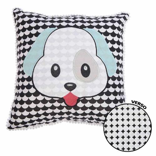 Travesseiro Minasrey Mini Herdeiros bordado - cachorrinho azul