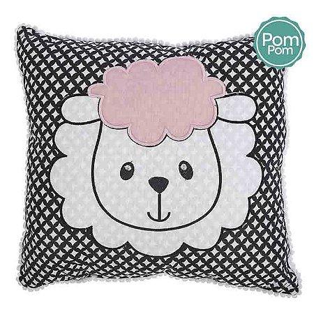 Travesseiro Minasrey Mini Herdeiros bordado - ovelhinha rosa