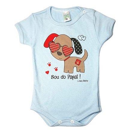 Body Linea Baby Manga Curta masculino - sou do papai azul