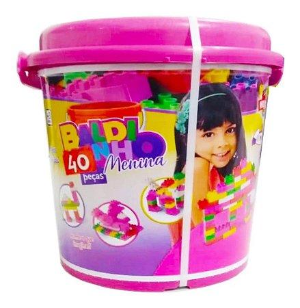 Super Baldinho World Blocks Kids 40  peças - rosa