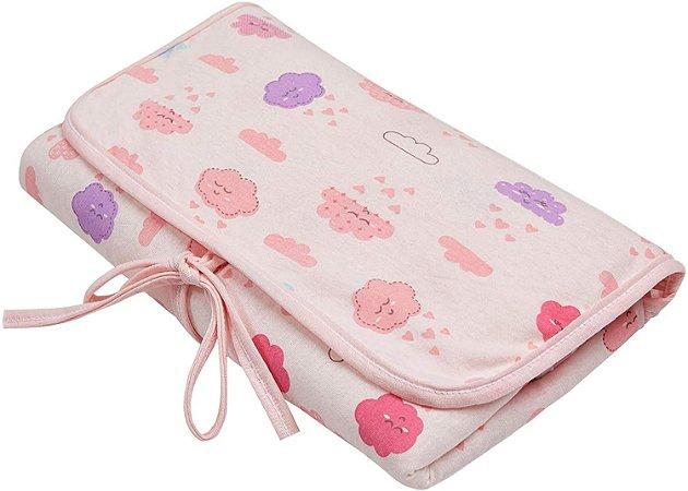 Trocador e Porta Fraldas Papi portátil - nuvem rosa
