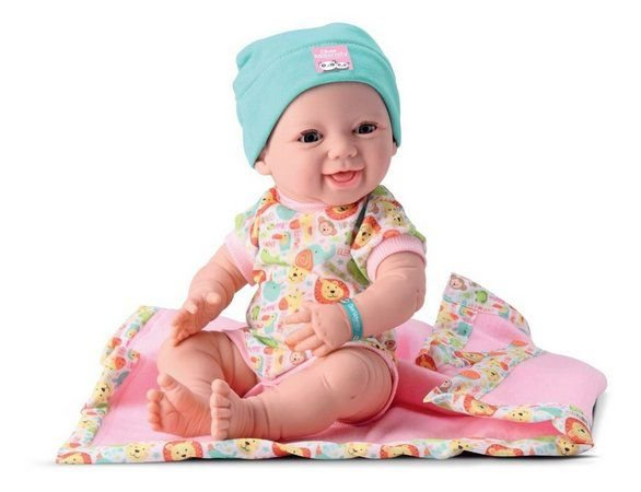 Boneca Diver Toys New Born em vinil - maternidade