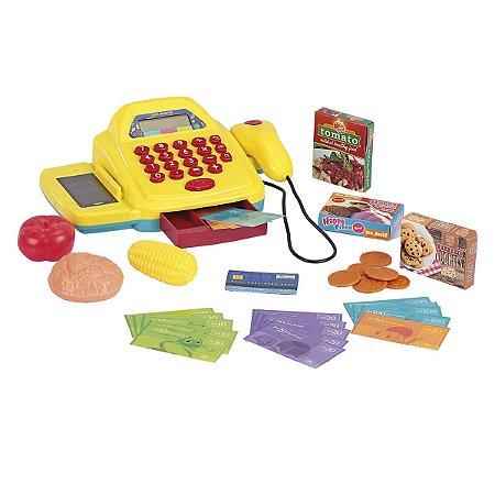 Mini Market Xplast caixa registradora - amarelo