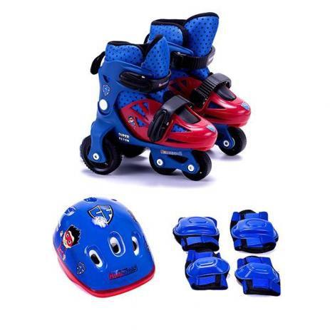 Kit Patins Unik Toys ajustável masculino - azul