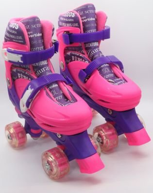 Patins unik toys patins 4 rodas com luzes good feelings