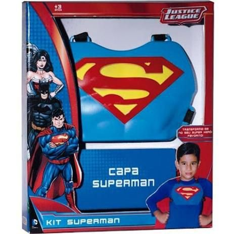 kit superman  Brinquedos Rosita   capa super homem   vermelha