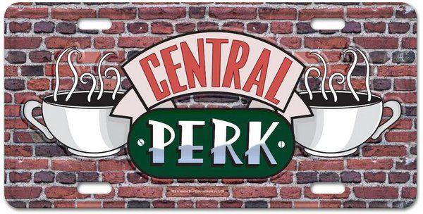 Placa de carro decorativa Central Perk - Friends