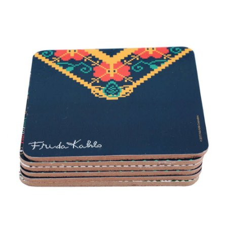 Conjunto Porta copos pixel - Fidra Kahlo