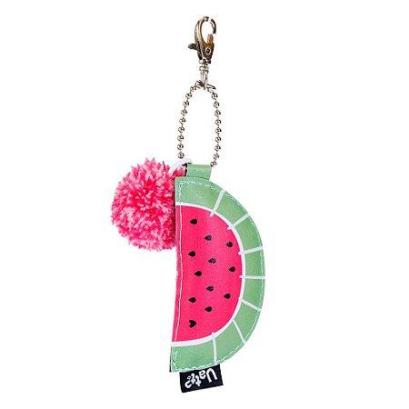 Chaveiro com pom pom - Desfrute
