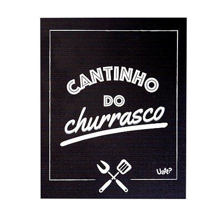 Placa Decorativa Cantinho do Churrasco