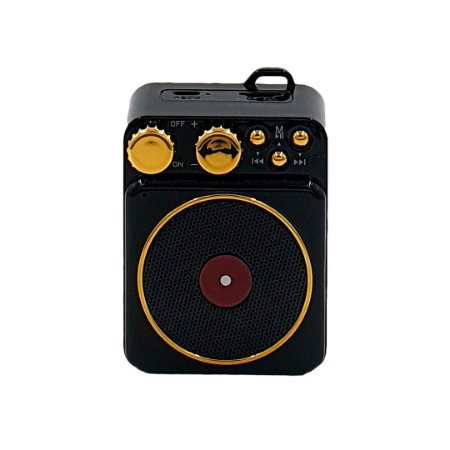 Mini Caixa de Som Speaker Bluetooth Retrô