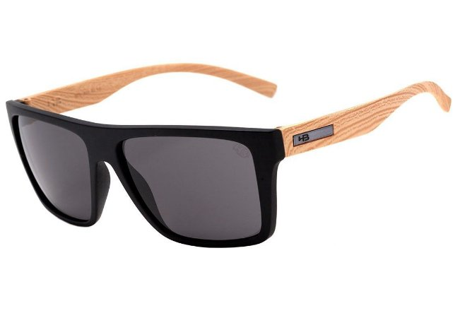 Óculos HB Floyd - Black / Wood
