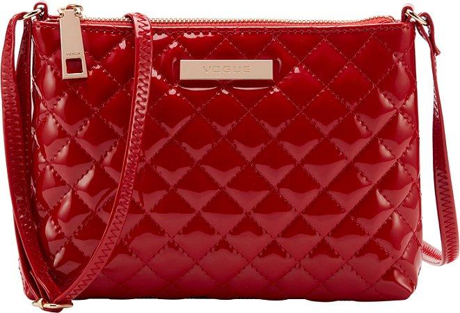 Bolsa Tiracolo Vogue Verniz - Red