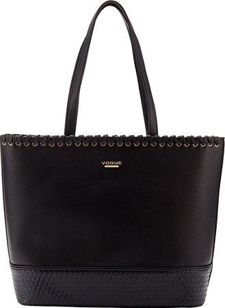 Bolsa Vogue Lisa Texturizada - Black