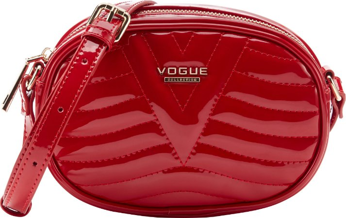 Bolsa Vogue Tiracolo Oval Verniz - Red