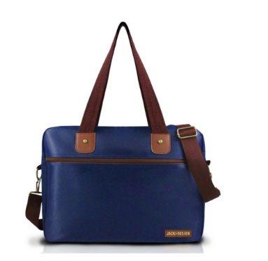 Sacola Jack Design - Azul/Marrom