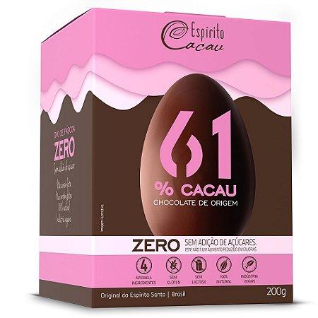 OVO DE CHOCOLATE 61% 200G ZERO - ESPIRITO CACAU
