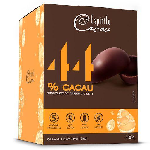 OVO DE CHOCOLATE AO LEITE 44% 200G - ESPIRITO CACAU