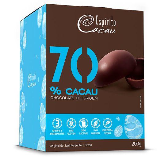 OVO DE CHOCOLATE 70% 200G - ESPIRITO CACAU