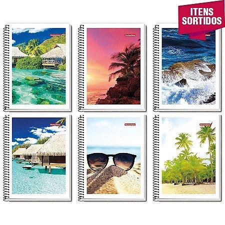 Caderno Universitário 10 Matérias Capa Flexível  pacote com 05 un.