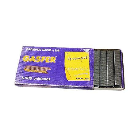 Grampo para Grampeador Rapid 9/8 Galvanizado Caixa c/ 5.000